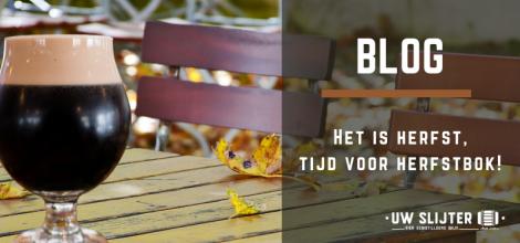 Een buitenbeeld in de herfst met een Herfstbok op tafel