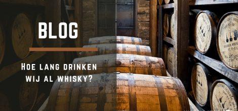 Opslag met whisky tonnen
